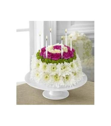 The FTD® Wonderful Wishes Floral Cake