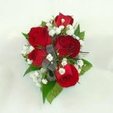 Red Sweetheart Rose Wrist Corsage