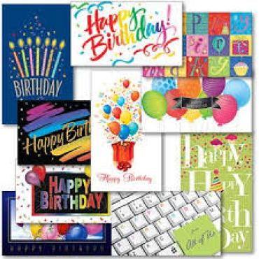 (1 ea) Full Size Birthday Greeting Card