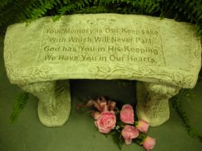 """Your Memory is Our Keepsake\"" Bench"
