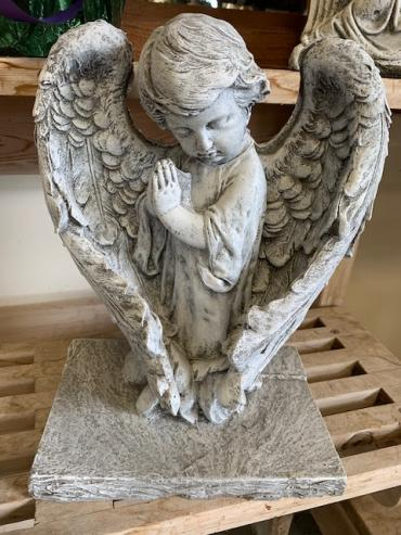 Large Wing Praying Angel