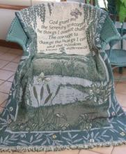 Serenity Prayer (2 layer) Throw