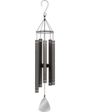 "44"" Etched Chimes Pewter Shimmer"