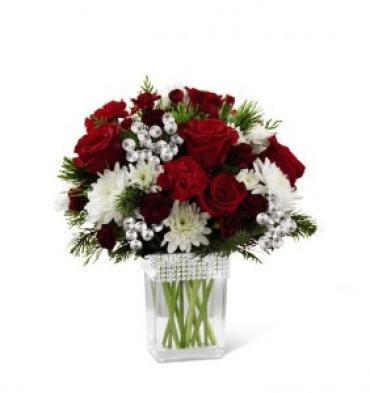 Happiest Holidays Bouquet-Silver Bling
