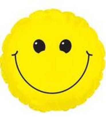 "Smiley Mylar Airfill 7"" Stick in Balloon"