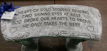 """A Heart of Gold\"" Bench"