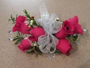 Hot Pink Sweetheart Wrist Corsage