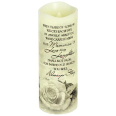 "Everlasting Glow With Premier Flicker ""Angel\'s Arms\"" Candle"
