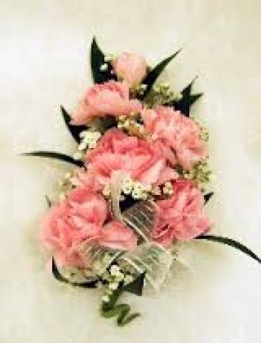 Pink Mini Carnation Wrist Corsage