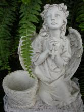 Sitting Cross/Rosary Angel