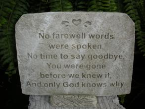 Farewell Words Stone