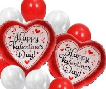 Valentine\'s Day Balloon Bunch
