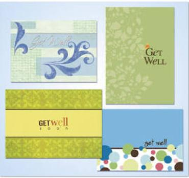 (1 ea) Full Size Get Well Greeting Card